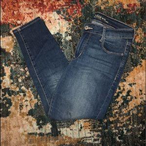 Cropped rockstar skinny jeans
